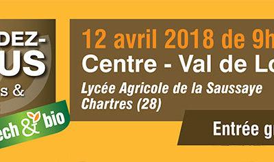 Rencontrez-nous au salon de l'agriculture biologique Tech&Bio à Chartres le 12 avril